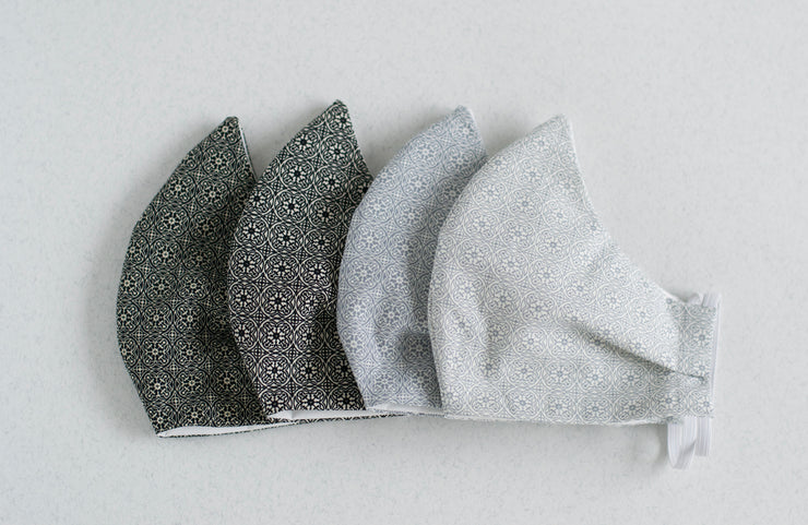 Navy and Grey Mosaic Mask 4Pack