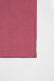 Bright Mauve Linen Pocket Square
