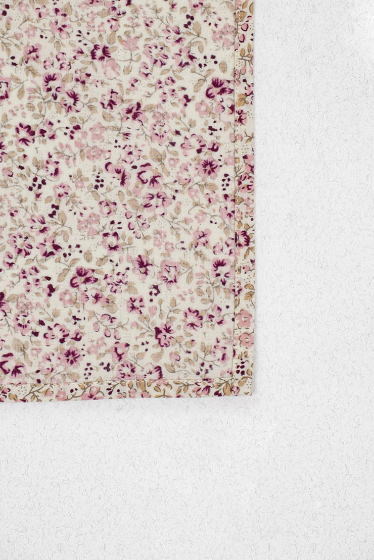 Mauve and Dusty Rose Floral Pocket Square