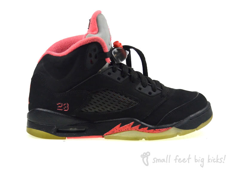 nike air jordan 5 retro small feet big kicks