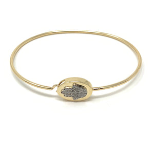 Oval Face Hamsa Bangle