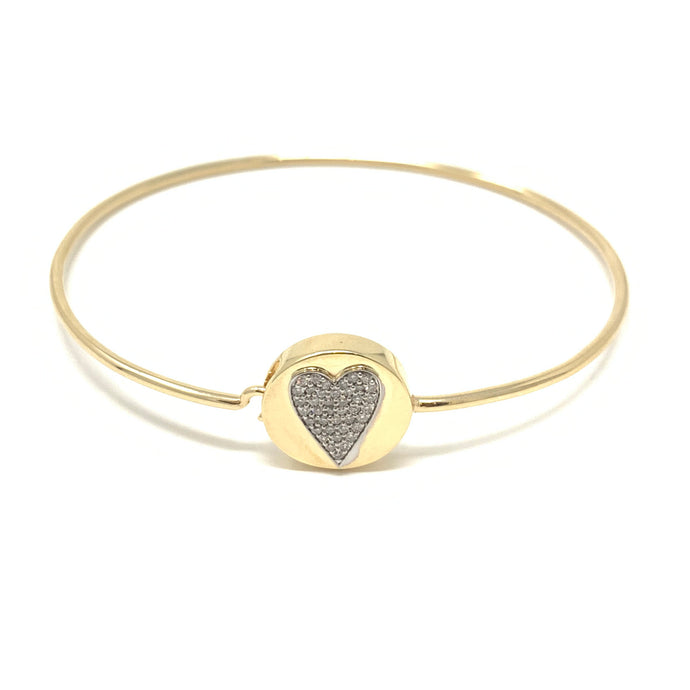 Round Face Heart Bangle