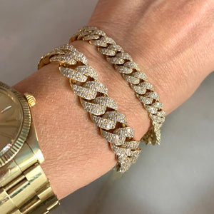 Large Pave Diamond Link Bracelet