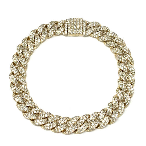 Medium Pave Diamond Link Bracelet
