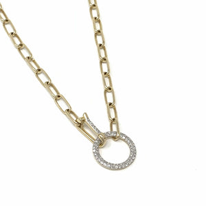 Classic Diamond Ring Necklace