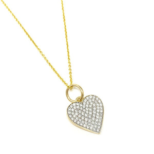 All Diamond Heart Pendant