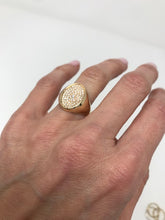 Load image into Gallery viewer, All Diamond Signet Ring