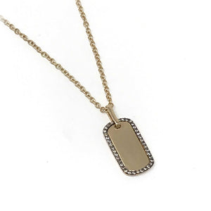 Medium Dog Tag Necklace