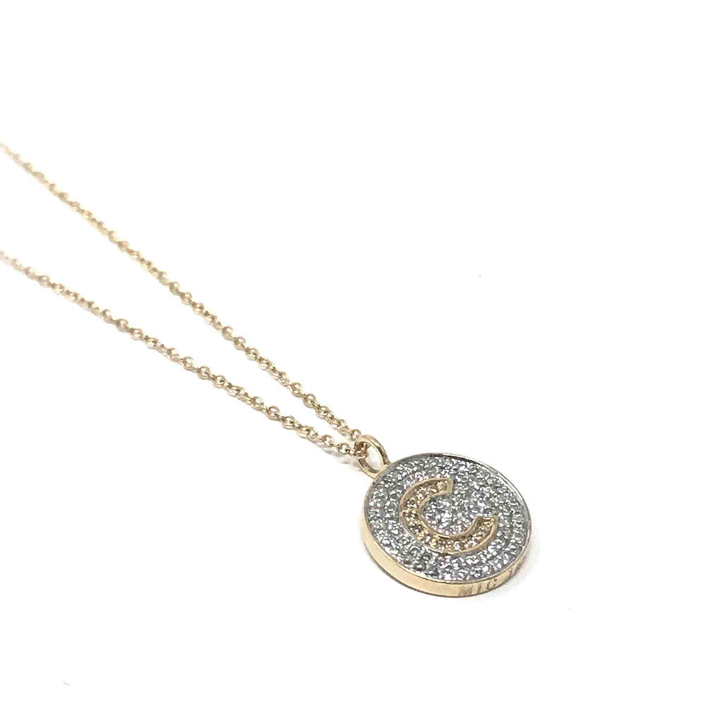 Mini Round Signet Necklace