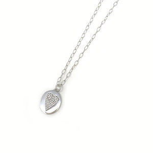 Classic Diamond Ring Charm Necklace