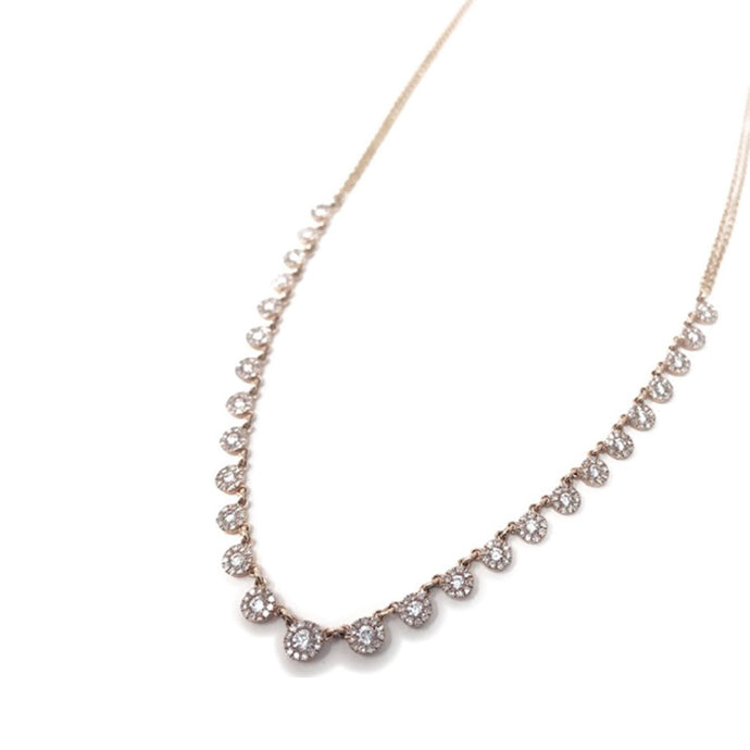 Pave Diamond Cluster Necklace