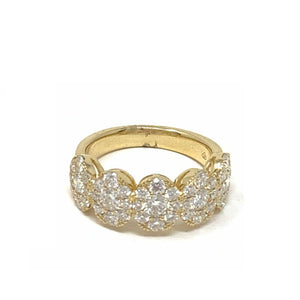 Large Pave Cluster Oval Ring