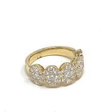 Load image into Gallery viewer, Large Pave Cluster Oval Ring