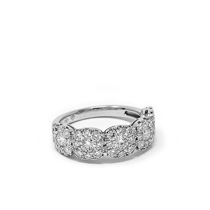 Medium Pave Cluster Square Ring