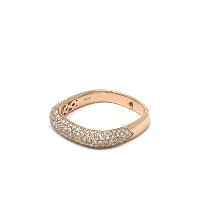 Pave Diamond Stacking Band