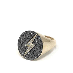 Lightning Bolt Signet Ring
