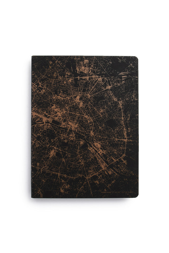 NUUNA - GRAPHIC NIGHTFLIGHT NOTEBOOK - DOT GRID - SLIM LARGE - PARIS COPPER - Pens Paper Ink
