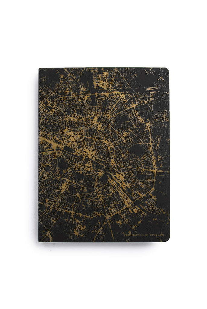 NUUNA - GRAPHIC NIGHTFLIGHT NOTEBOOK - DOT GRID - SLIM LARGE - PARIS GOLD - Pens Paper Ink