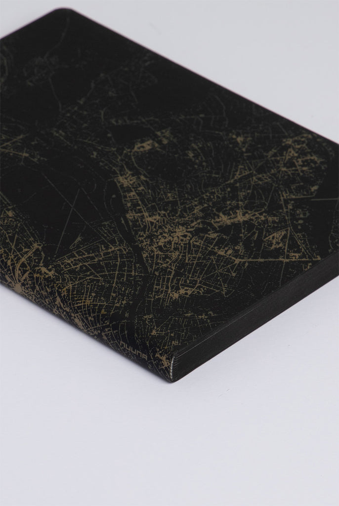 NUUNA - GRAPHIC NIGHTFLIGHT NOTEBOOK - DOT GRID - SLIM LARGE - PARIS GOLD - Pens...Paper...Ink