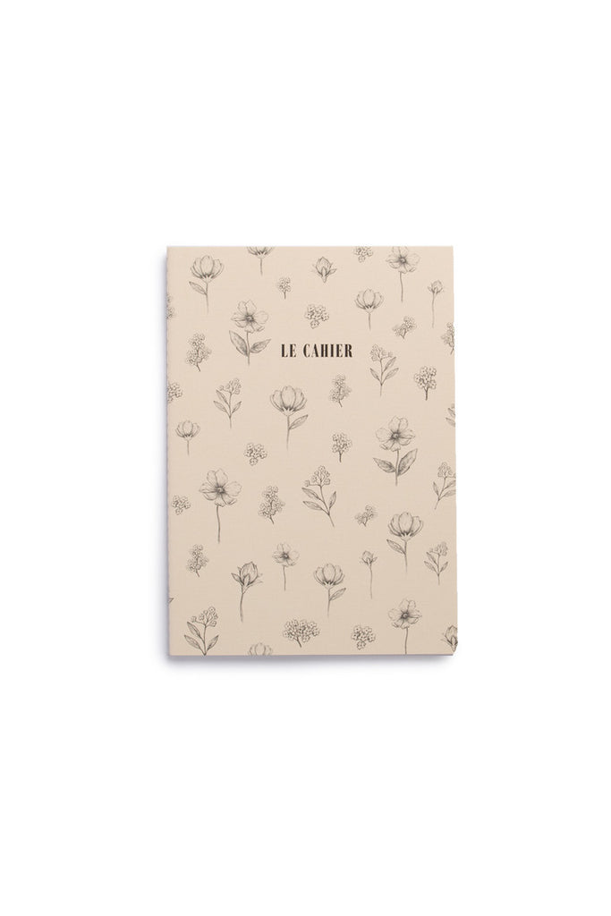 O-CHECK DESIGN GRAPHICS - CAHIER NOTEBOOK - DOT GRID - MEDIUM - FLORAL IVORY - Pens...Paper...Ink