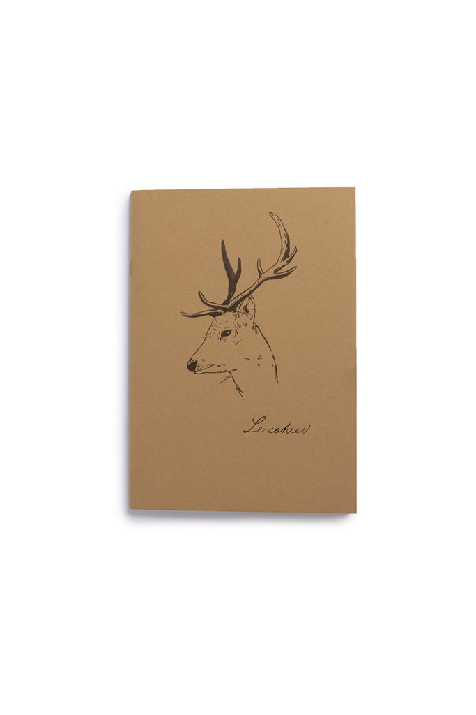 O-CHECK DESIGN GRAPHICS - CAHIER SECTION NOTEBOOK - PLAIN - MEDIUM - DEER - Pens Paper Ink