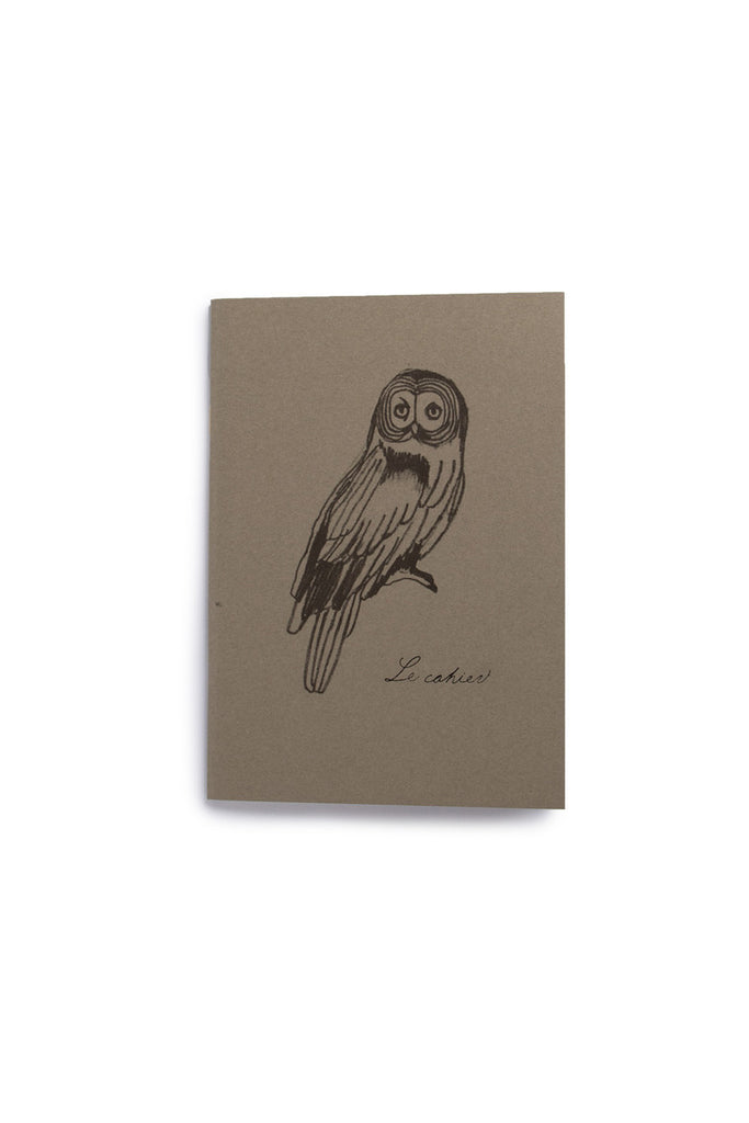 O-CHECK DESIGN GRAPHICS - CAHIER SECTION NOTEBOOK - PLAIN - MEDIUM - OWL - Pens Paper Ink