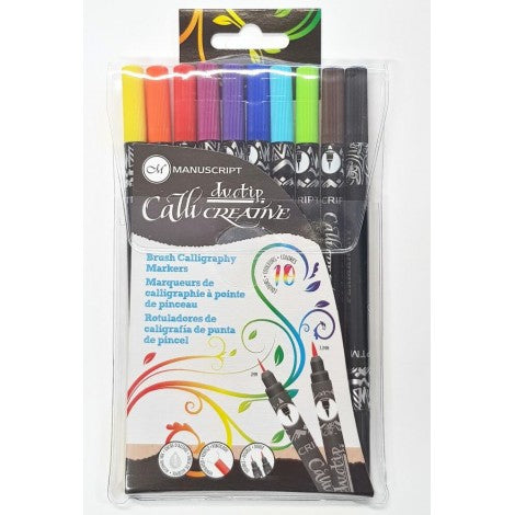 Manuscript - CalliCreative Duotip Brush Markers - Pens Paper Ink