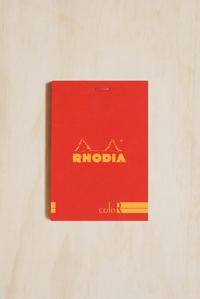RHODIA - PREMIUM 'R' PAD #12 - COLOUR SERIES - RULED - A6 - Pens...Paper...Ink