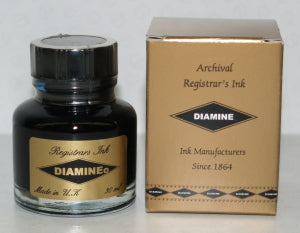 DIAMINE REGISTRAR'S BLUE-BLACK INK - 30ML BOTTLE - Pens Paper Ink