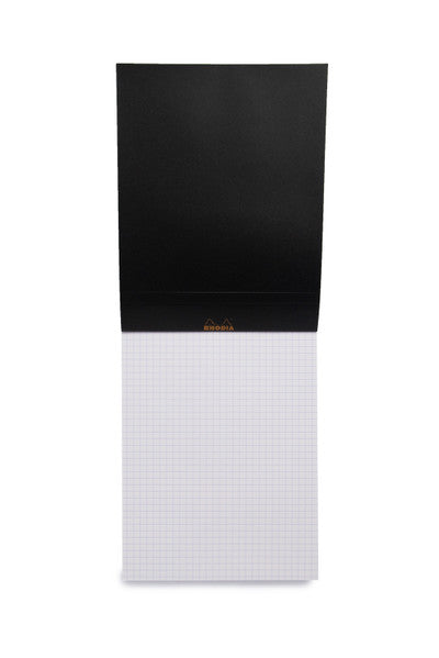 RHODIA - PAD #16 - TOP STAPLED - 5X5 GRID - A5 - BLACK - Pens Paper Ink