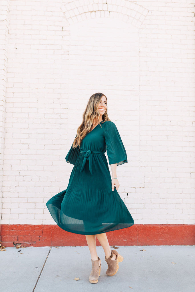 Celebration Pleated Dress