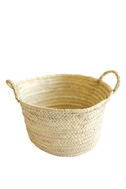 Hand Woven Moroccon Basket with Handles