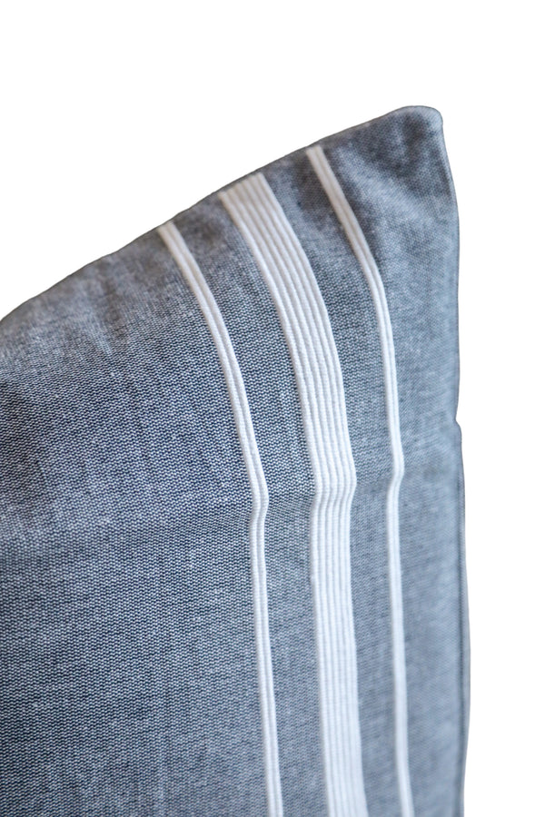 Double Stripe Navy Pillow