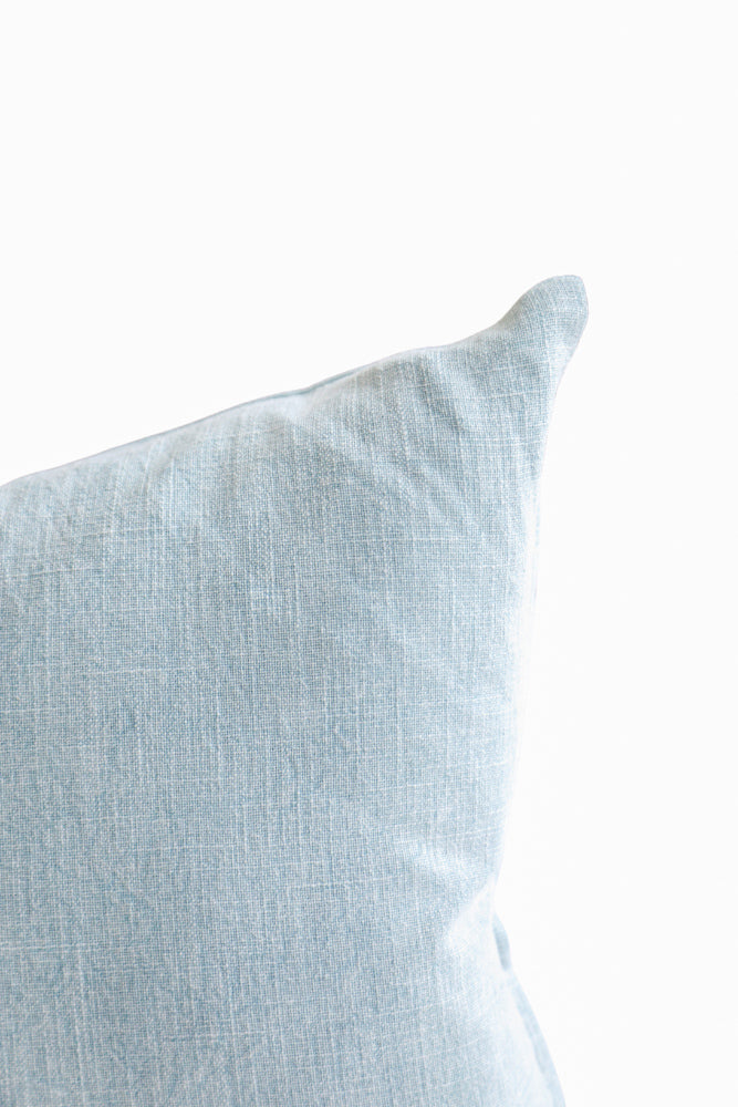 Linen Pillow in Grey Blue