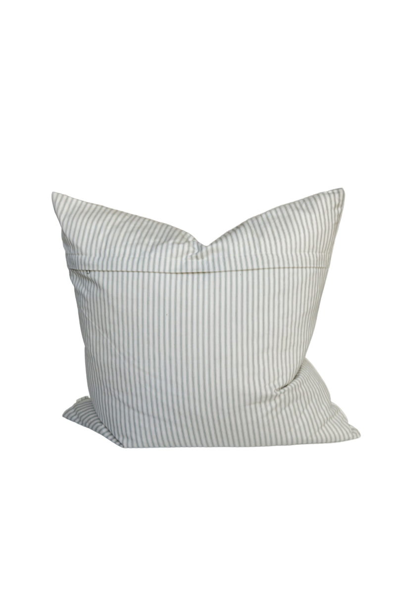 Ticking Stripe Pillow in Gray