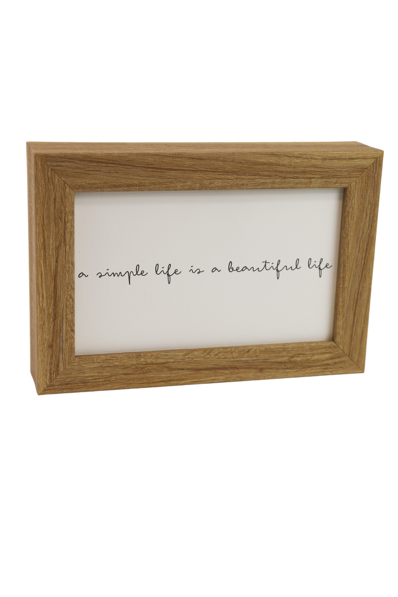 Simple Life is a Beautiful Life Quote