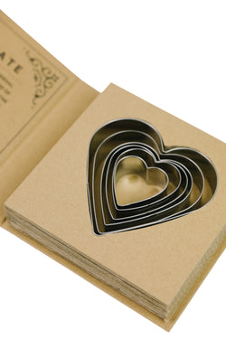 Cardboard- Heart Cookie Cutters
