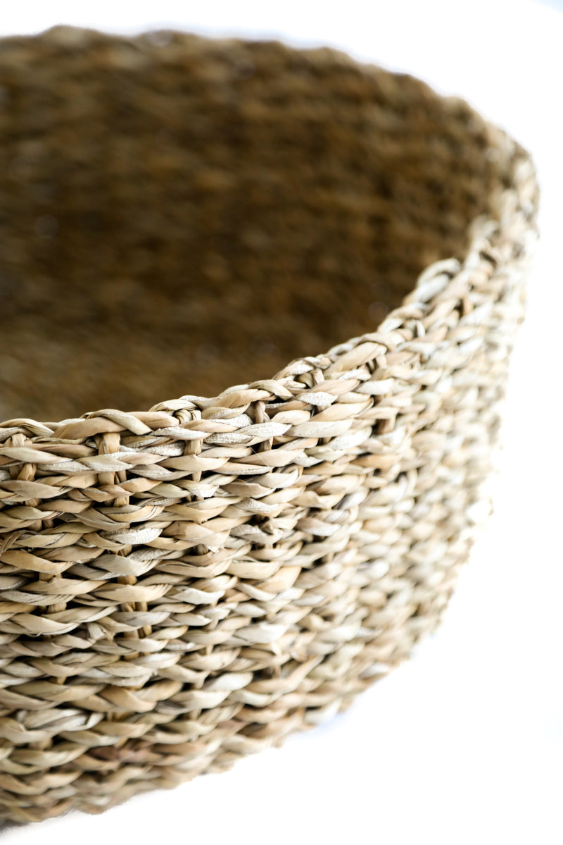 Sea Grass Low Basket