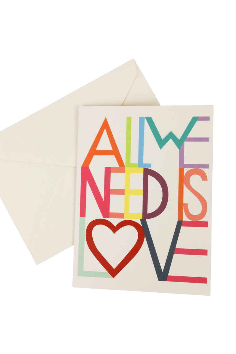 """All We Need Is Love"" Card + Sticker"