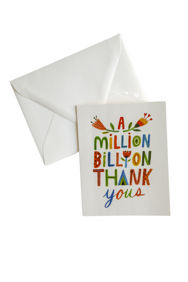 A Million, Billion Thank You's Card