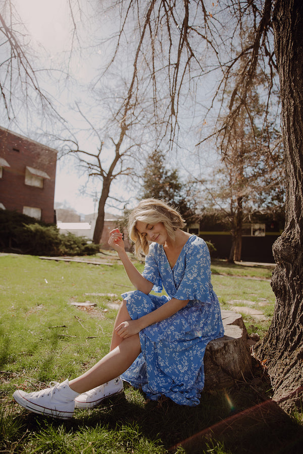 Blue Skies Floral Dress