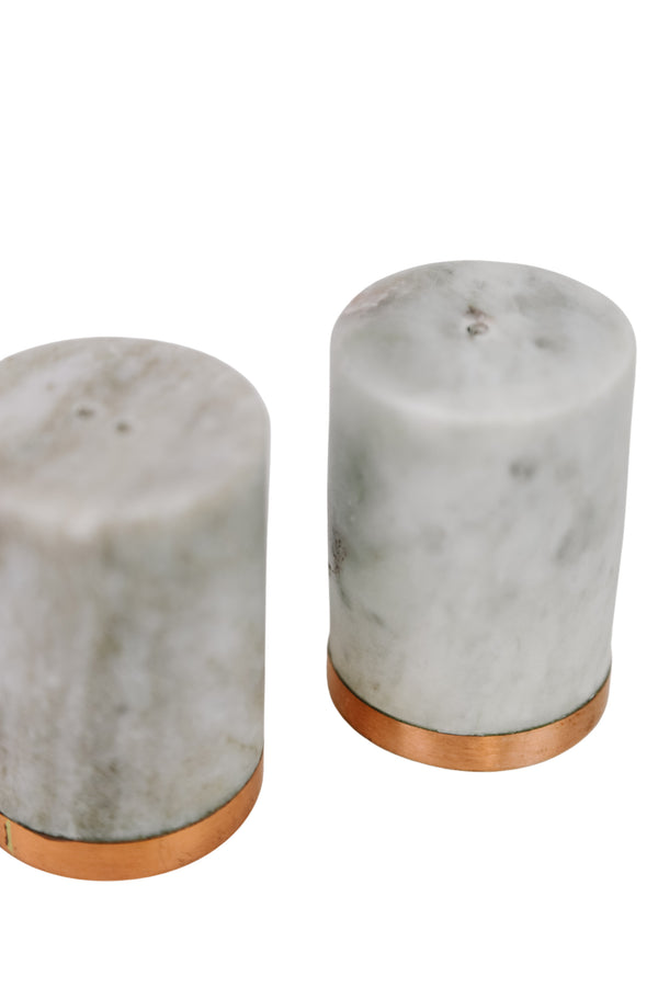 Marble Salt + Pepper Shakers