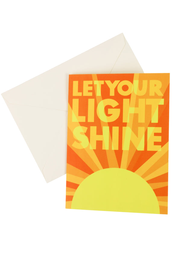 """Let Your Light Shine"" Card + Sticker"