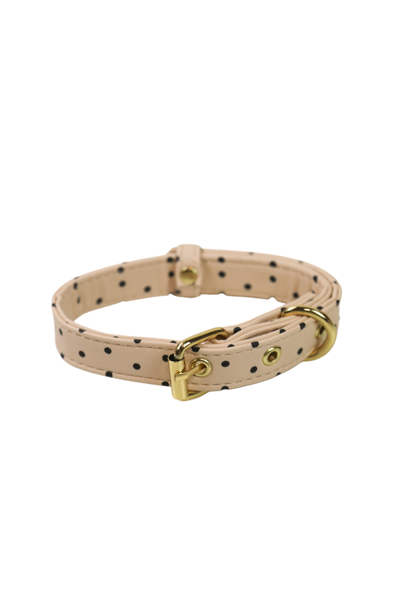 Polka Dot Pet Collar in Blush