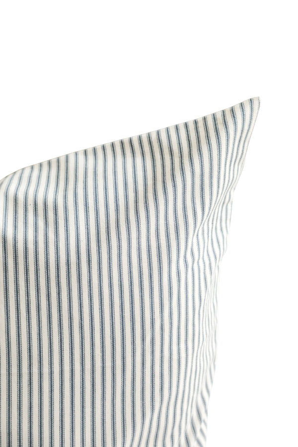 Ticking Stripe Pillow in Navy