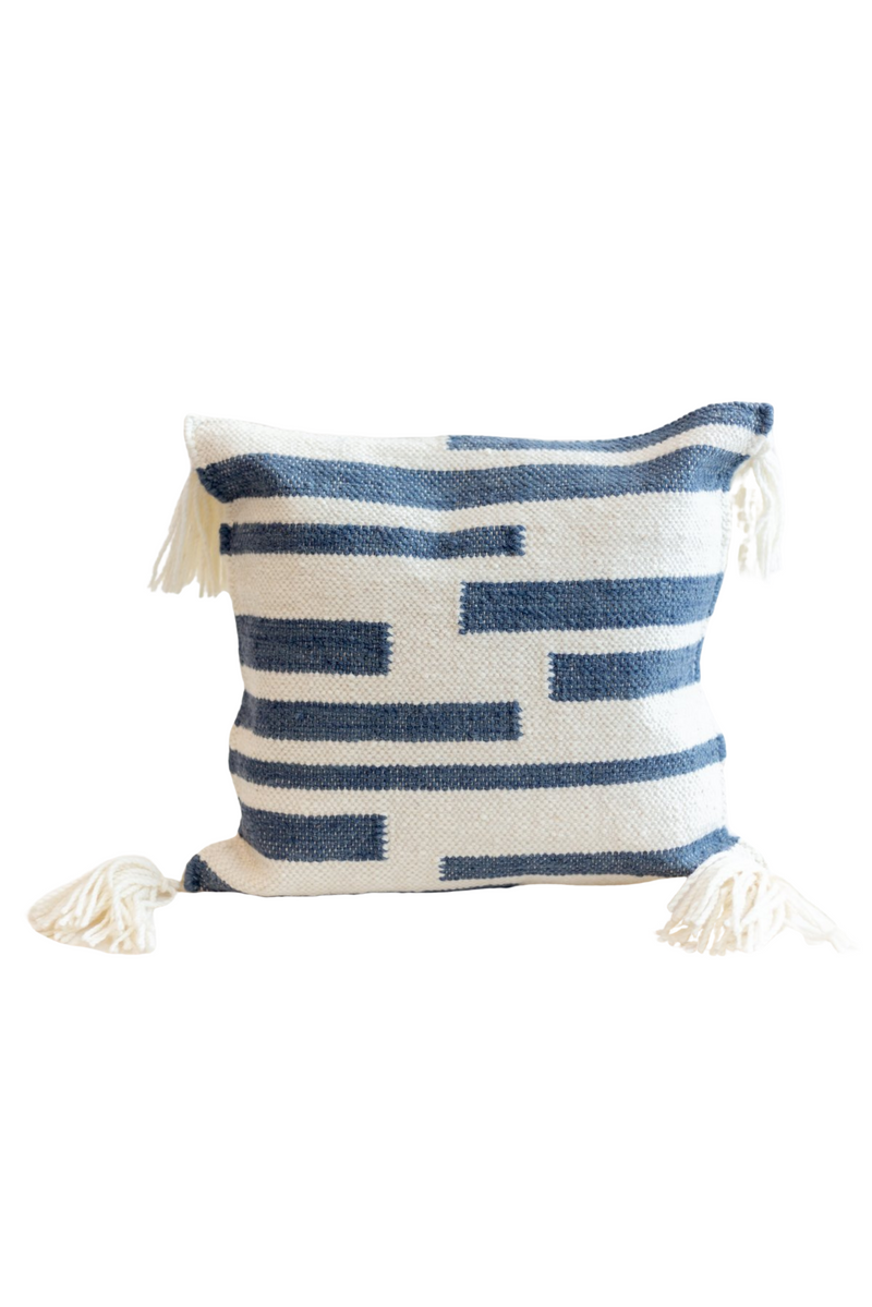 Miami Striped Tassel Pillow