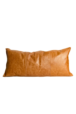 Extra Long Leather Lumbar Pillow
