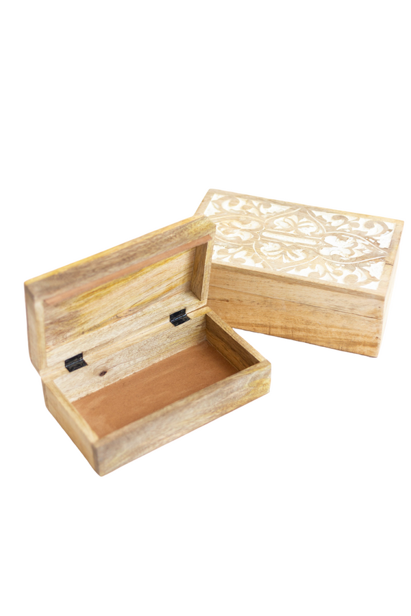 Flora Mango Wood Trinket