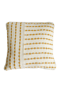 Katia Yellow Stitch Pillow