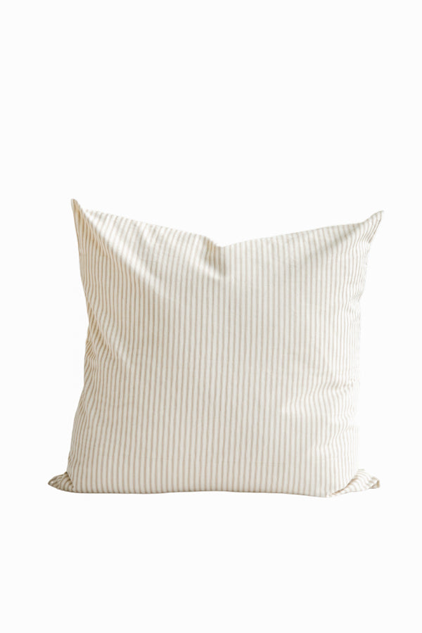 Ticking Stripe Pillow in Beige